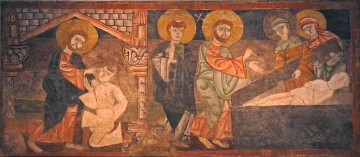 26 fresco healing of blind man and raising of lazarus