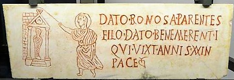 350_Tombstone for loculus burial of Young Man_Roman, Second half 4th Century_Vatican, Pio-Cristiano Museum